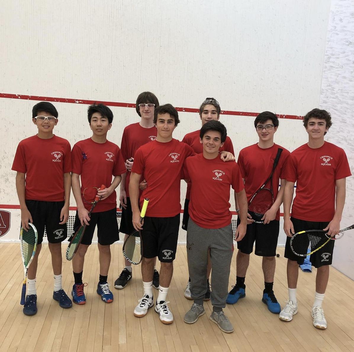 GHS Boys A squash team at US Squash Nati