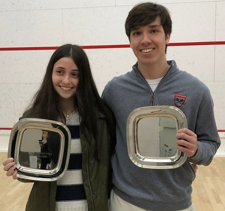 Chloe Palumbo - Westport and Will Comyns - New Canaan winners of the Bonnie Bancroft Leadership Awar