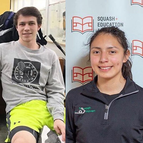 Rachel Matamoros - New Haven Public Schools (Squash Haven) and Henry Sparkman - Darien High School