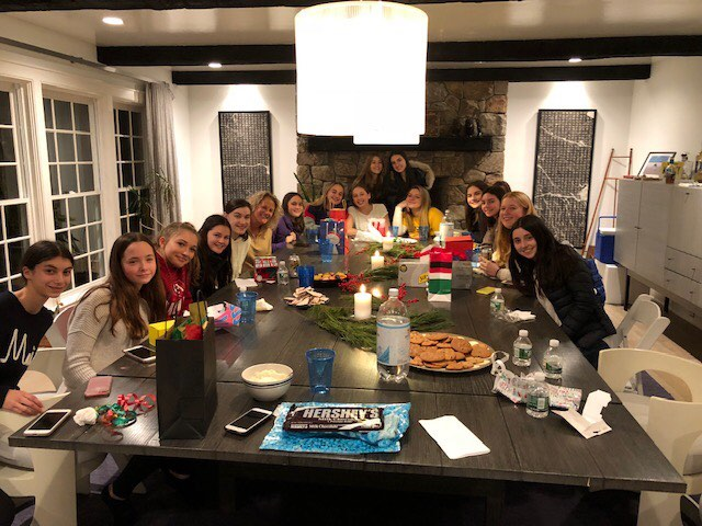 Westport (Staples) Girls squash team social event 2018/2019 season.