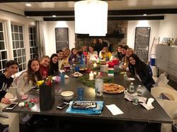 Westport (Staples) Girls squash team social event 2018/2019 season.