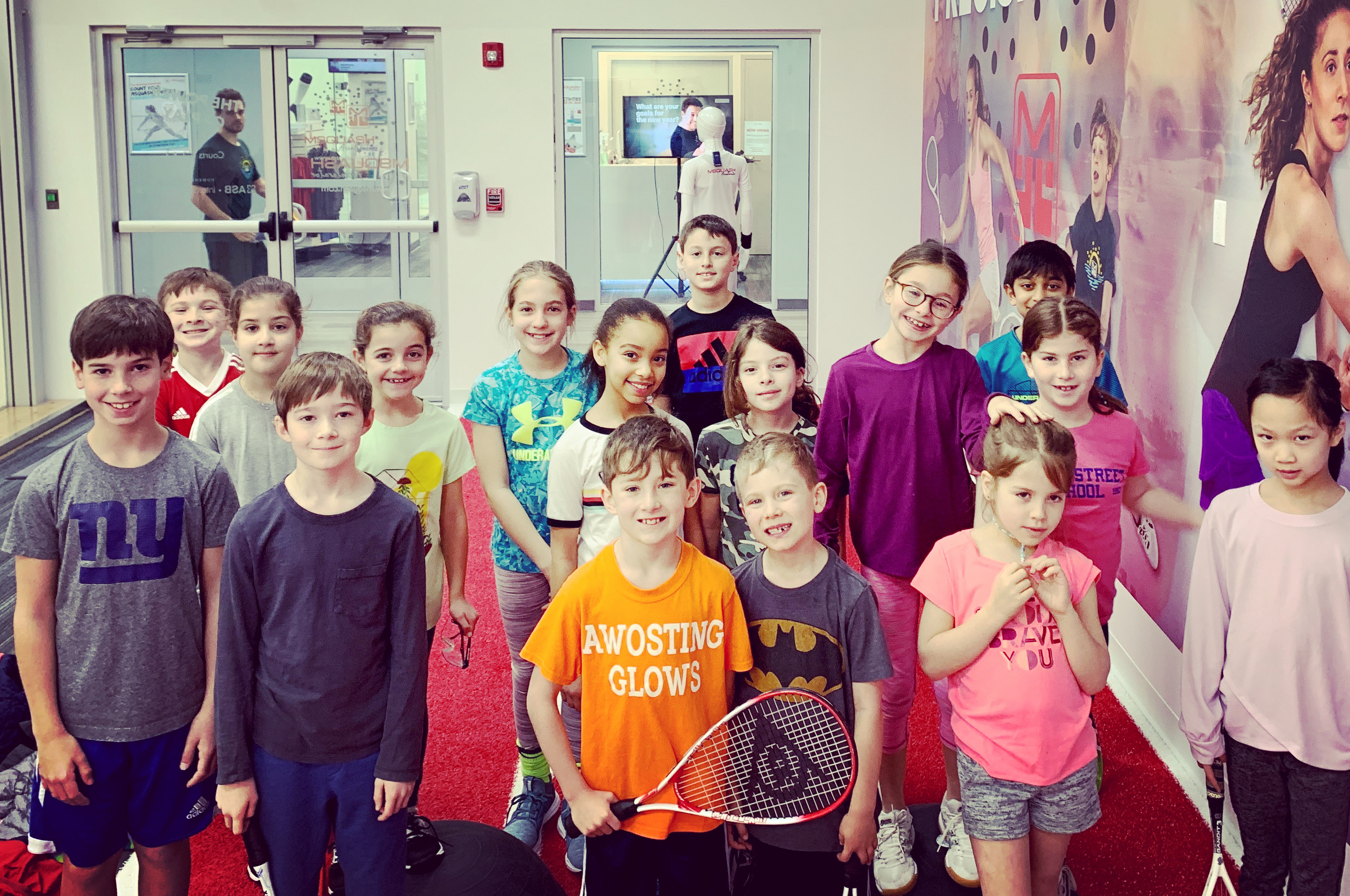 Greenwich Squash elementary school program hosted at MSquash