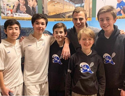 Darien Middle School A team with Nick Ma