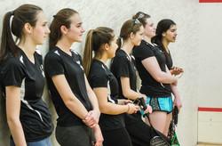 Fairfield Girls Varsity squash team