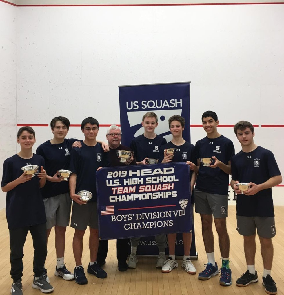 Westport (Staples) Varsity team winner of Boys Division VII at US Squash High School Nationals 2019.