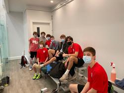 New Canaan Boys Varsity squash team 2020