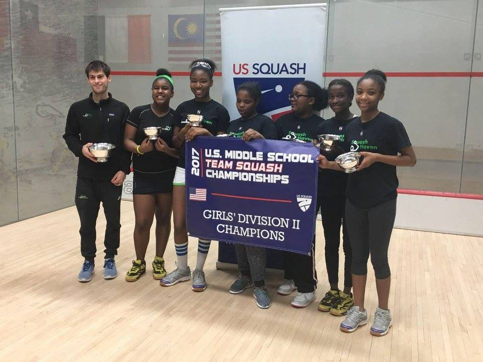 New Haven Middle School team winner of the US Squash Middle School Nationals Div II 2017.