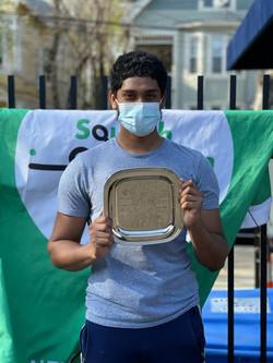 Mohammed Hoque winner of the 2020/21 Bon
