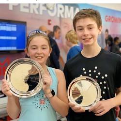 Savannah (winner of GU11) and Maddox Moxham (runner up BU13) at CT JCT 2020