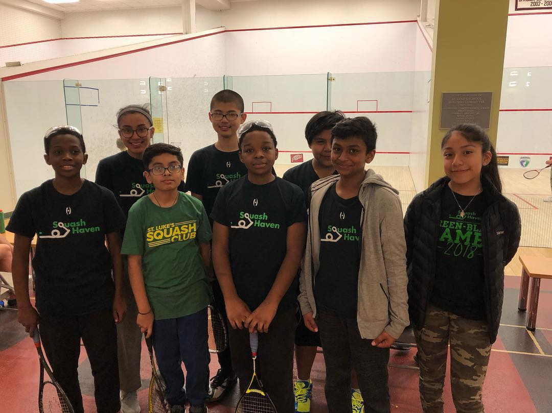 Squash Haven team at the St. Luke's Silv
