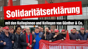 Solidaritätserklärung mit den Kolleginnen und Kollegen von Günther & Co.