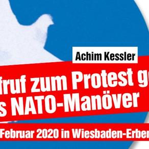 Aufruf zum Protest gegen das NATO-Manöver am 1. Februar 2020 in Wiesbaden-Erbenheim