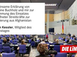 Afghanistan - Persönliche Erklärung nach § 31 der Geschäftsordnung des Deutschen Bundestages