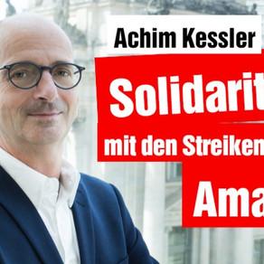 Solidaritätserklärung mit den Streikenden bei Amazon in Bad Hersfeld