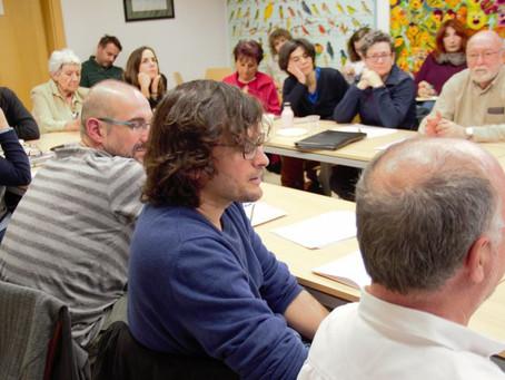 Miguel Casado en la Fundación Centro de poesía José Hierro