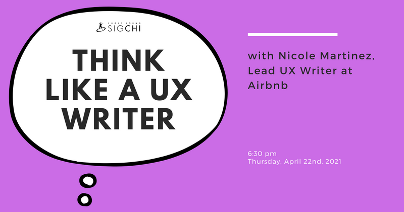 Think like a UX Writer