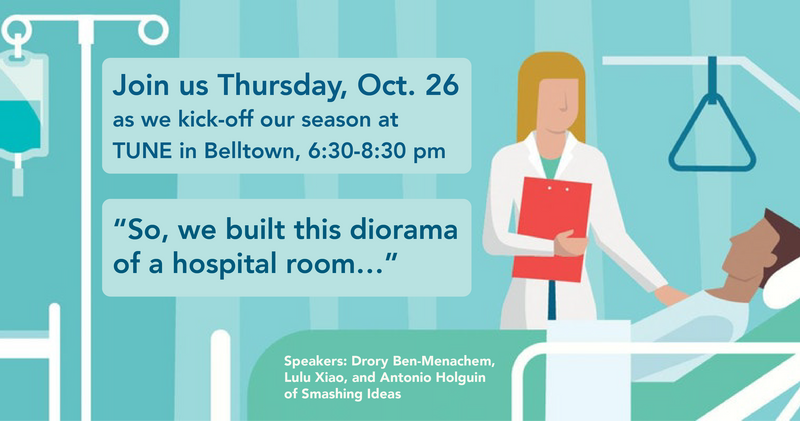 So, we built this diorama of a hospital