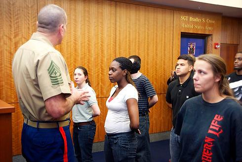 SgtMaj Speaks at MEPS from defense.gov.j