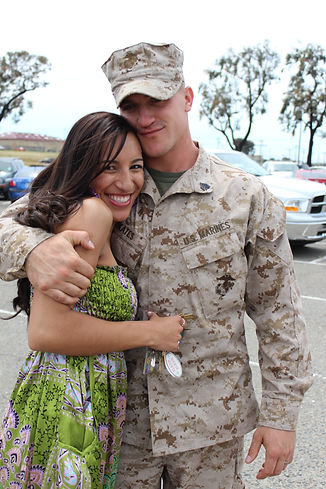 Family Page Marine and Wife by Cpl Rober