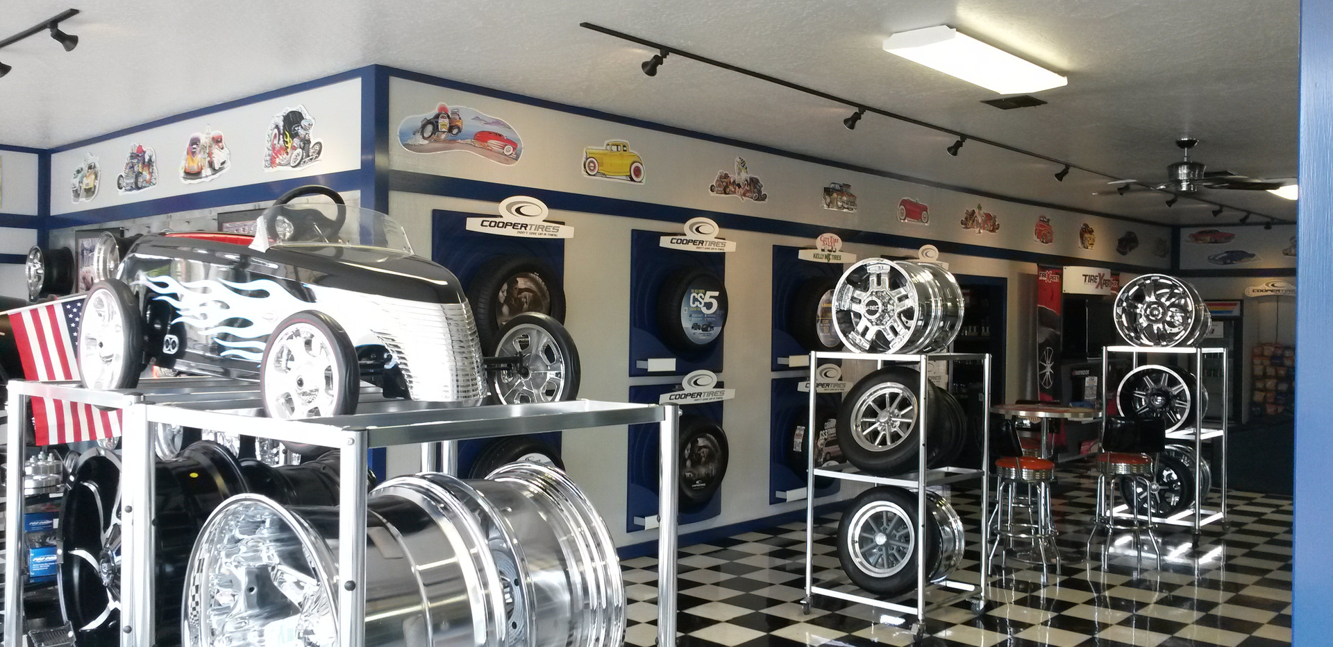 Inside of the shop