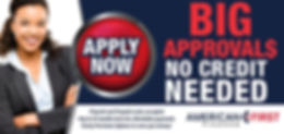 American First Finace -Apply Now Image. Please click for details and to apply for credit.