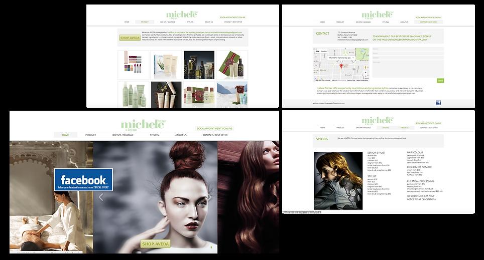 AVEDA concept hair salon website and logo design