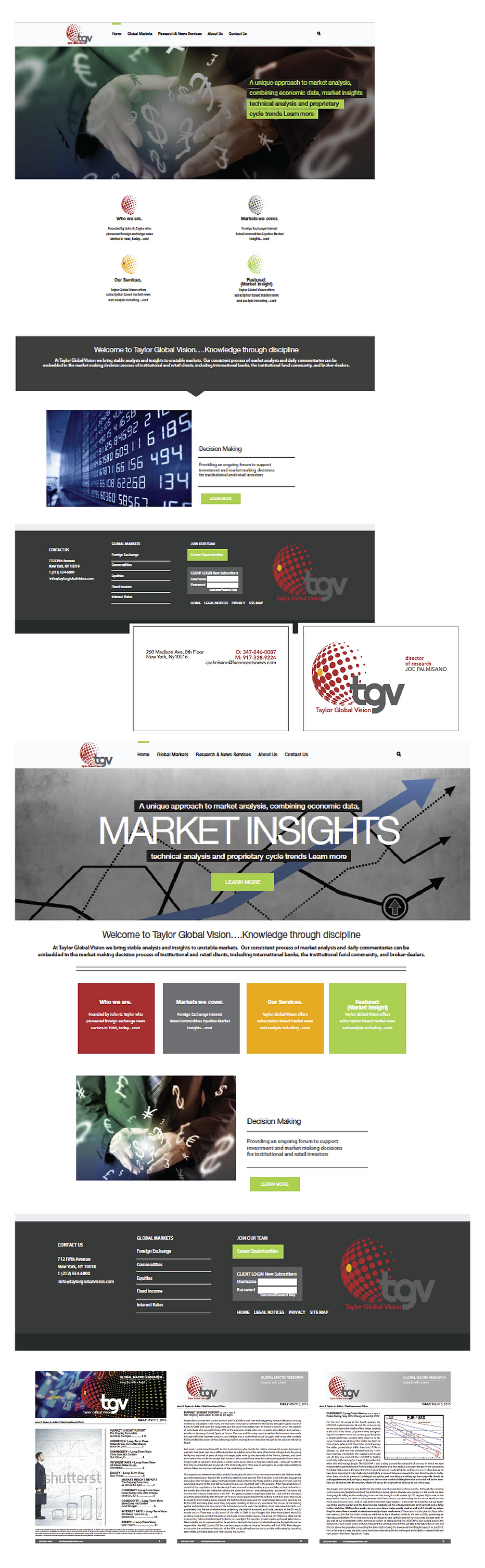 Financial services web design and logo design and letterhead designs