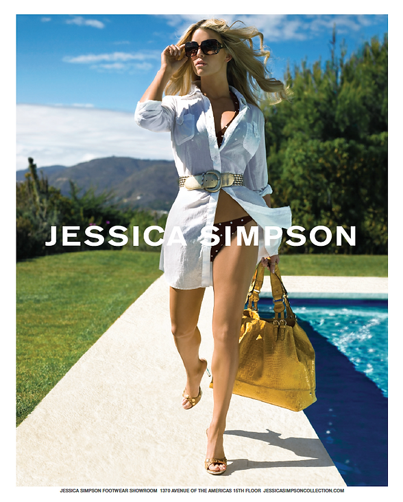 jessica simpson, luxury fashion print and website campaign