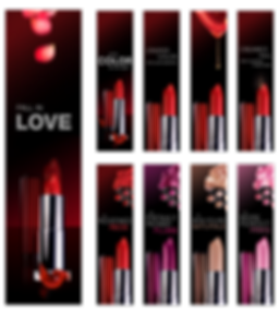 Maybelline lipstick banner ad