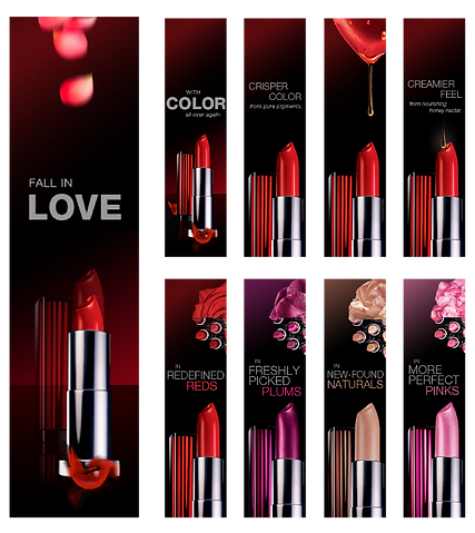 Maybelline lipstick banner ad