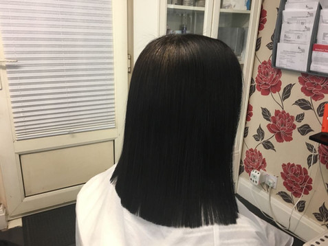 Aftercare advice following the permanent hair straightening treatments.