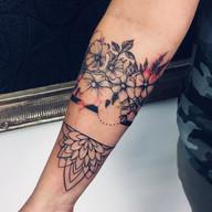 Kytičky a nature tetování - Tattoo Mija