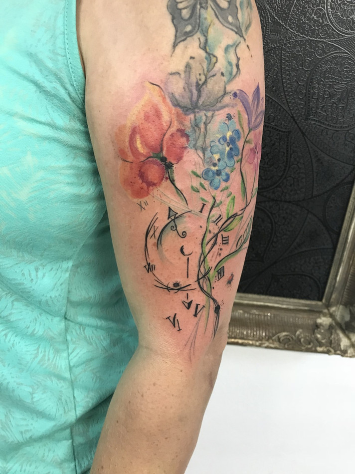 Akvarel a watercolor tetování - Tattoo M