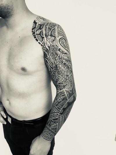 Maori rukáv tetování - Tattoo Mija Praha