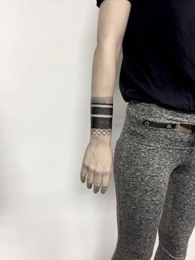 Geometrie tetování - Tattoo Mija Praha V
