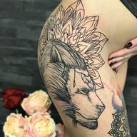 Lev mandala tetovani studio Tattoo Mija