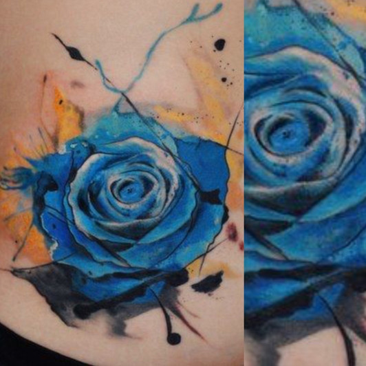 Akvarel a watercolor tetování - Tattoo M