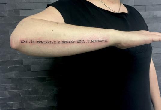 Nápisy a jména Studio Tattoo Mija Praha