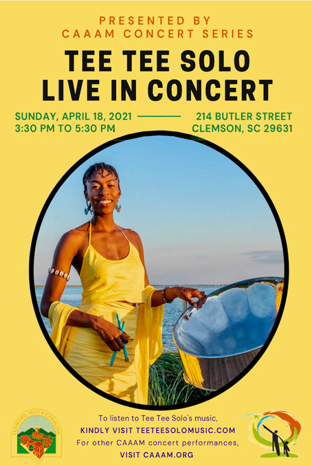 CAAAM Concert Series - Tee Tee Solo - Live in Concert - April 18, 2021 3:30pm