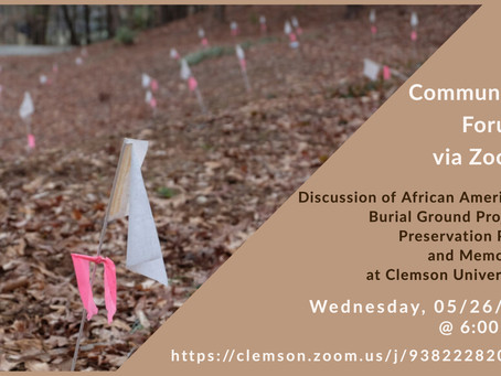 Community Forum - African American Burial Ground Project Preservation Plan