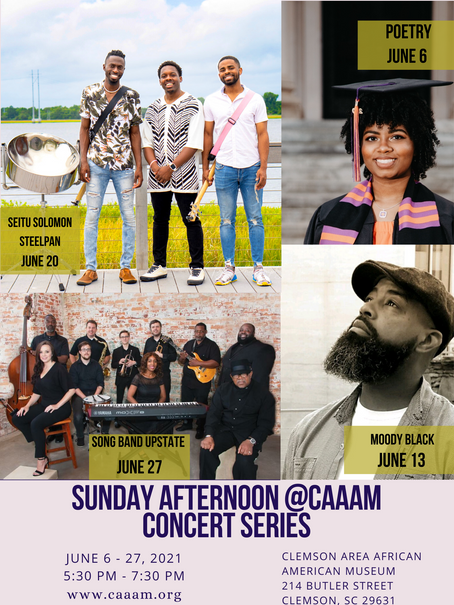 SUNDAY AFTERNOON @CAAAM CONCERT SERIES JUNE 6 - 27, 2021, 5:30 PM - 7:30 PM