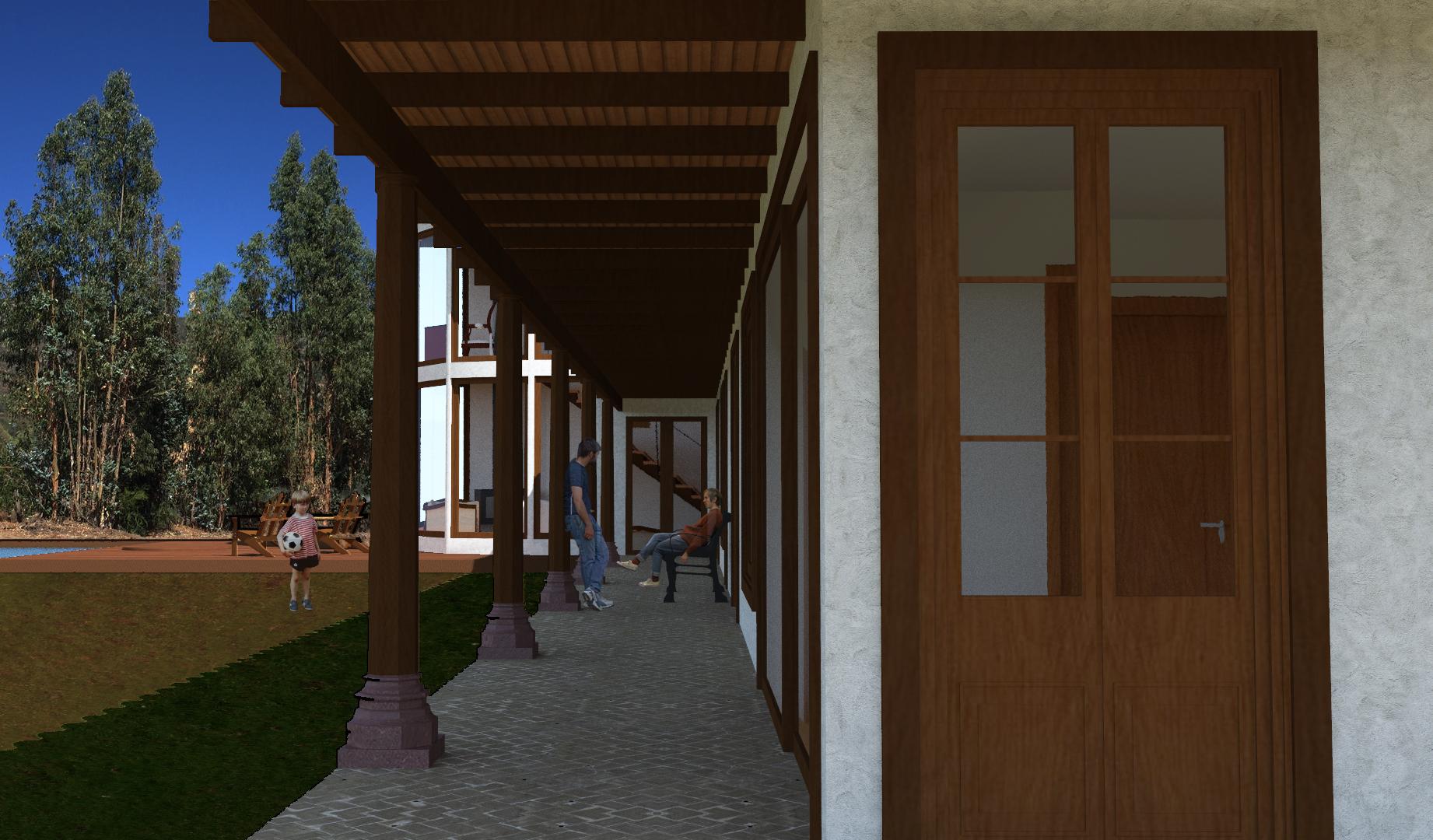 Pasillo Exterior Dormitorios