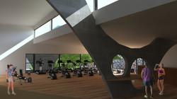 Propuesta Gimnasio Vista Interior