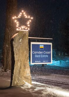 Camden Coast Real Estate Rock Sign