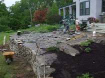 Installing a Rock Patio