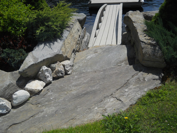 Lakefront Stone Steps