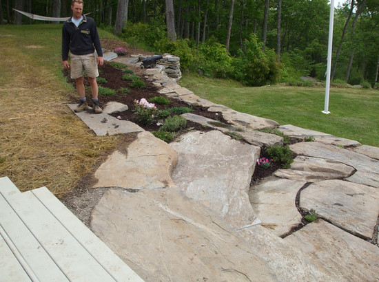 Rock Patio and Steps