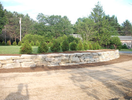 Curved Field Stone Wall
