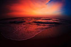 Закат на острове Шри Ланка