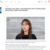 BEHIND THE LABEL: AN INTERVIEW WITH TWOPLUSO® DESIGNER, JENNY WILKINSON